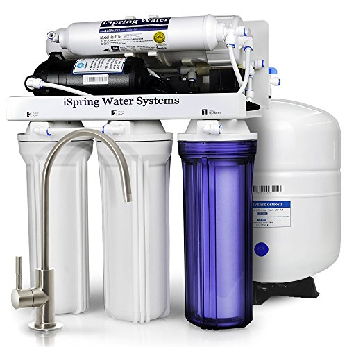 iSpring RCC100P High Capacity, Performance-boosted Under Sink 5-Stage Reverse Osmosis Drinking Water Filtration System, 100 GPD, WQA Gold Seal Certified