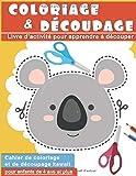 Coloriage & Découpage : Livre d'activité pour apprendre à découper pour enfants de 4 ans et plus   Cahier de coloriage et de découpage kawaii