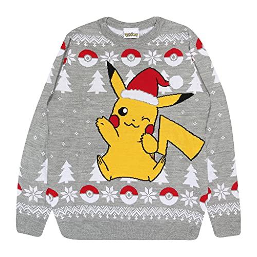 Pokemon Pikachu Santa Hat Christmas Men's Knitted...