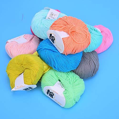 Bola de hilo multicolor, 12 colores, hilo para tejer artesanías, hilo de algodón con leche tejido a mano para tejer y proyectos de ganchillo/Pompom Cat Toy