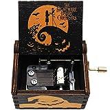 Lastsummer Wooden Music Box – The Nightmare Before for Christmas, Halloween, Birthday, Anniversary, New Year, Kids, Woman – 1 Set(yjh2)