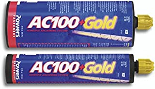 Powers AC100+ Gold Two-Component Vinylester Adhesive Anchoring System, 12 oz. Dual Cartridge Case - 12 Per Case