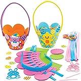 Baker Ross AT453 Kits Tejido Canasta de Pascua Set para niños (paquete de 4)