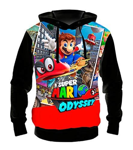 Blusa Moletom com Capuz - Super Mario Odyssey - EG