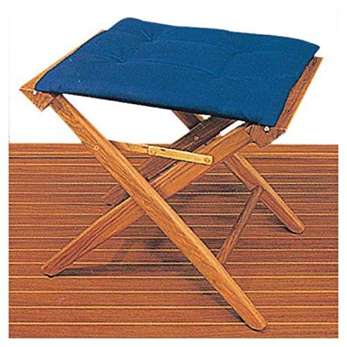 ARC teakhouten klapstoel bekleed. Stoffen bekleding zand messing