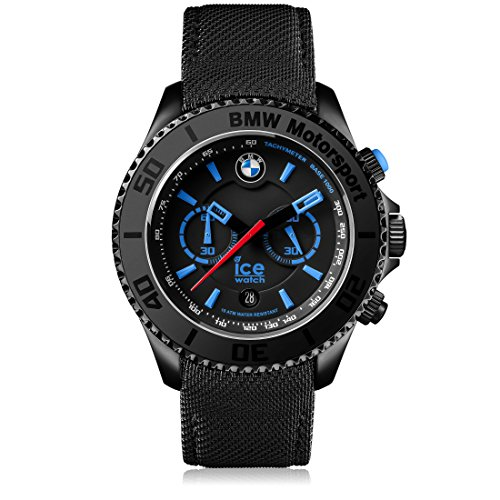 Ice-Watch - BMW Motorsport (steel) Black - Men's wristwatch with leather strap - Chrono - 001119 (Large)
