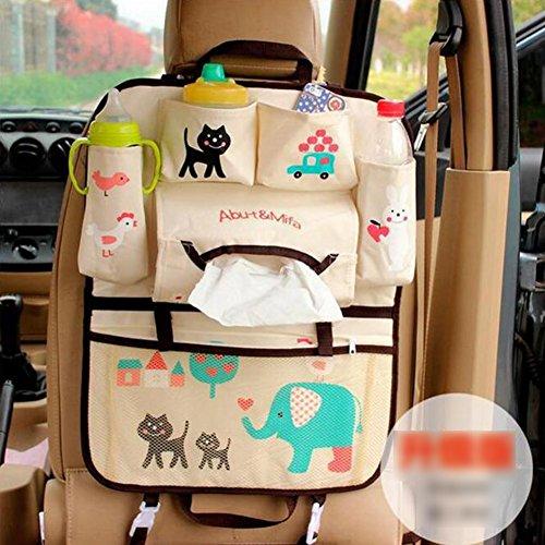 GudeHome Rücksitz Autoorganisator Comic Auto Rücksitz hängende Aufbewahrungstasche Multifunktionales Fahrzeug Rücksitz Veranstalter Taschen