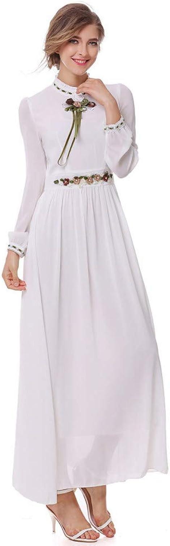 Cxlyq Dresses Spring and Autumn Long Sleeve Light Yellow Dress