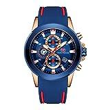 Relojes deportivos hombres de lujo militar cronógrafo reloj de...