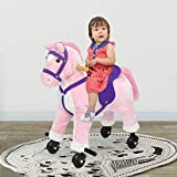 Kinbor Kids Ride on Horse Riding Rocking Horse Walking Pony Ride on with Sound and Wheels, Birthday Children's Day Gifts