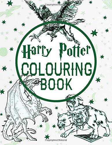 Harry Potter Colouring Book: Adult Coloring Books with 50+ Magical Characters Places & Creatures