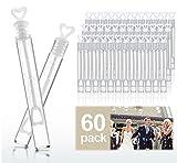 Cubewit Boda Varita Tubo de la Burbuja corazón Favor de la Boda Mesa decoración Accesorios de Fiesta (60er)