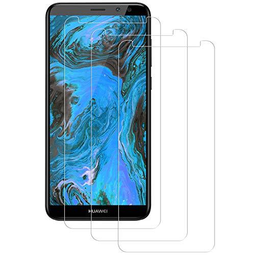 PUUDUU Cristal Templado para Huawei Mate 10 Lite, [3 Piezas] Resistente a Los Arañazos, Sin Burbujas, Película Protectora de Vidrio Templado para Huawei Mate 10 Lite