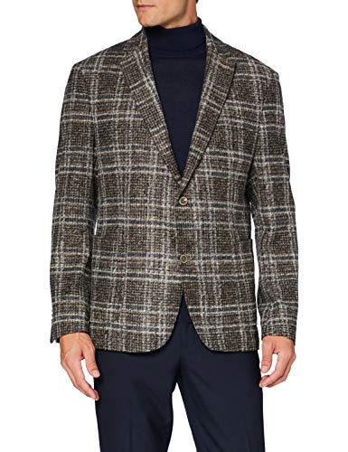 Bugatti Herren 698228-69229 Lässiger Business-Blazer, braun, 118