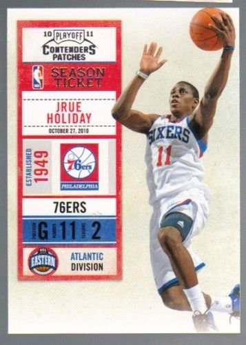 2010-11 Playoff Contenders Patches #62 Jrue Holiday