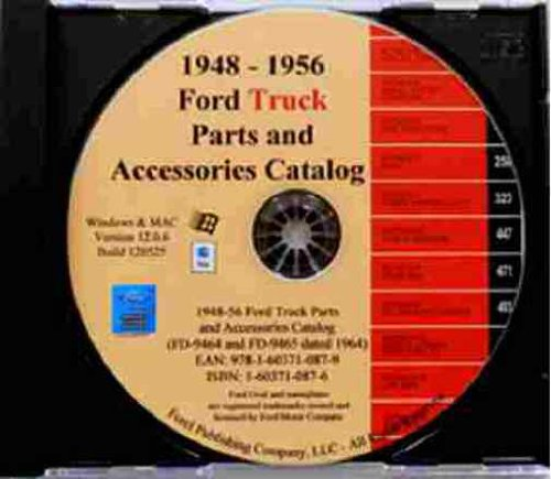 F100 F150 F250 F350 F400 F500 FORD TRUCK FACTORY PARTS & ACCESSORIES CATALOG CD 1948 1949 1950 1951 1952 1953 1954 1955 1956