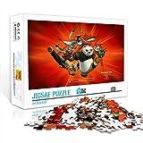 Puzzle para adultos 1000 piezas Kung Fu Panda Anime Poster Puzzle de madera Family movie star poster puzzle, decoración de la pared familiar rompecabezas de regalo 75x50cm