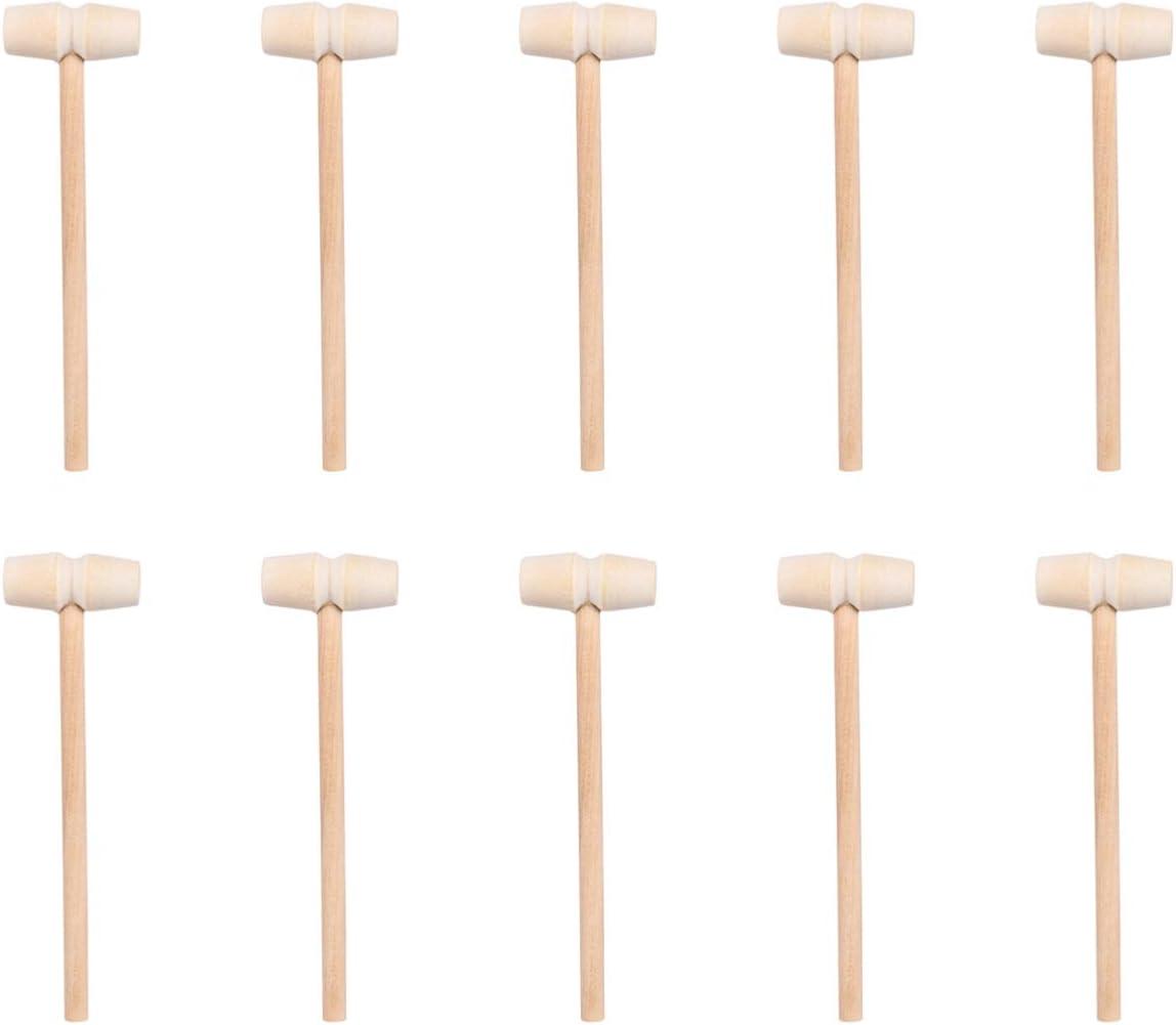 Fees free!! YARNOW 25pcs Mini Wooden Hammer Pounding Mallet Malle Toy Cheap sale