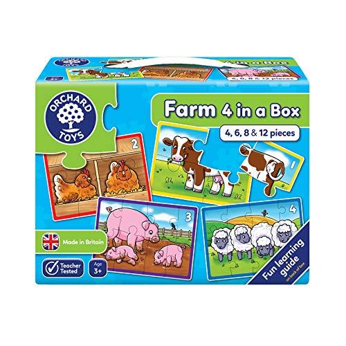 _   Caja con 4 Puzzles, diseño de la Granja