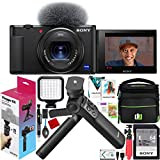Sony ZV-1 Compact Digital 4K Camera Vlogger Creator's Kit ACCVC1 Includes GP-VPT2BT Shooting Grip with Wireless Remote Commander + 64GB Card DCZV1/B Bundle Deco Gear Case + LED Light and Accessories