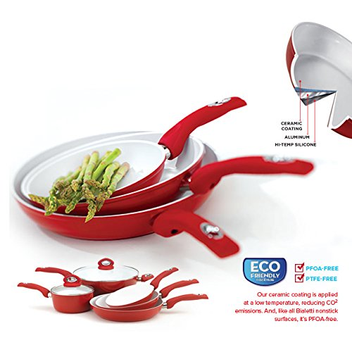 Bialetti Aeternum Red 7194 Fry Pan, 12-inch