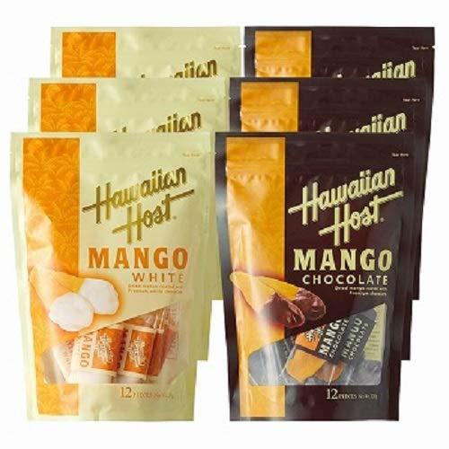 ハワイアンホースト(Hawaiian Host) ドライマンゴーチョコレート ホワイト&ダーク 2 種6袋セット【ハワイ おみやげ(お土産) 輸入食品 スイーツ】
