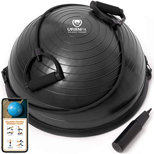 URBNFit Balance Ball Halbkugel Balance Trainer - Halber Gymnastikball für Fitness, Yoga, Pilates, Krafttraining, Turnen - Fitnessgeräte für Zuhause