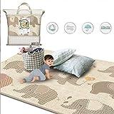Ankoy 200x180x1 cm Dicken Baby Krabbeln Spielen Matte doppelseitige Nicht-Slip Schaum Spiel Pad für Kinder Infant Room Gym Teppich Teppich Wasserdicht -