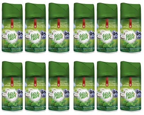 12x Fresh&More Wilde Beere-Mokosnuss&Mint Passend Für Freshmatic Max,250ml