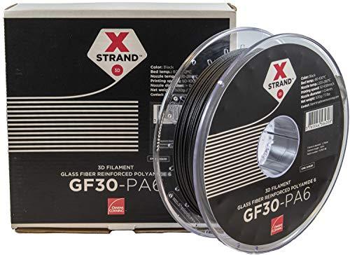Owens Corning FIXD-PA17-BK0 Xstrand PA6 GF30 Filamento per stampante 3D PA (poliammide) resistente ai raggi uv 2.85 mm