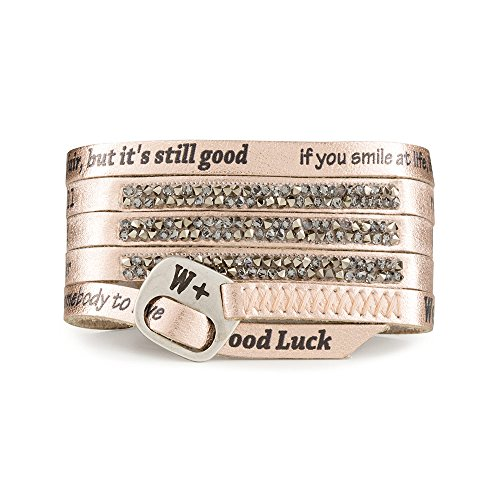 We Positive SPECIAL BLACK FRIDAY 50% OFF ARMBAND MOONLIGHT GLAMOUR COL. ORO ROSA ML020