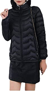 Macondoo Women Fit Quilted Coat Cotton-Padded Puffer Down Jacket