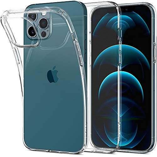 Spigen Funda Liquid Crystal Compatible con iPhone 12 Pro MAX - Transparente
