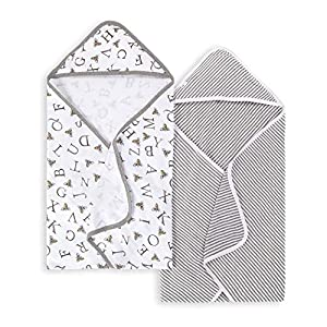 Burt's Bees Baby Bee Essentials Organic Single Ply Hooded Towel
