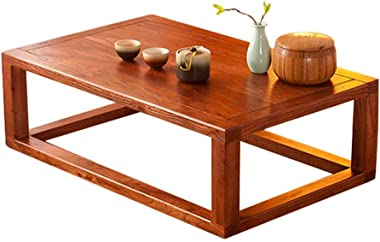 Coffee Table Study Room Table Bedroom Bed Table Household Wood Table Balcony Bay Window Tea Table Gift (Size : 50 * 40 * 25cm