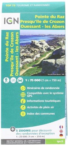 IGN 75 000 Touristische Wanderkarte Ouessant-Abers Crozon (Ign Map)