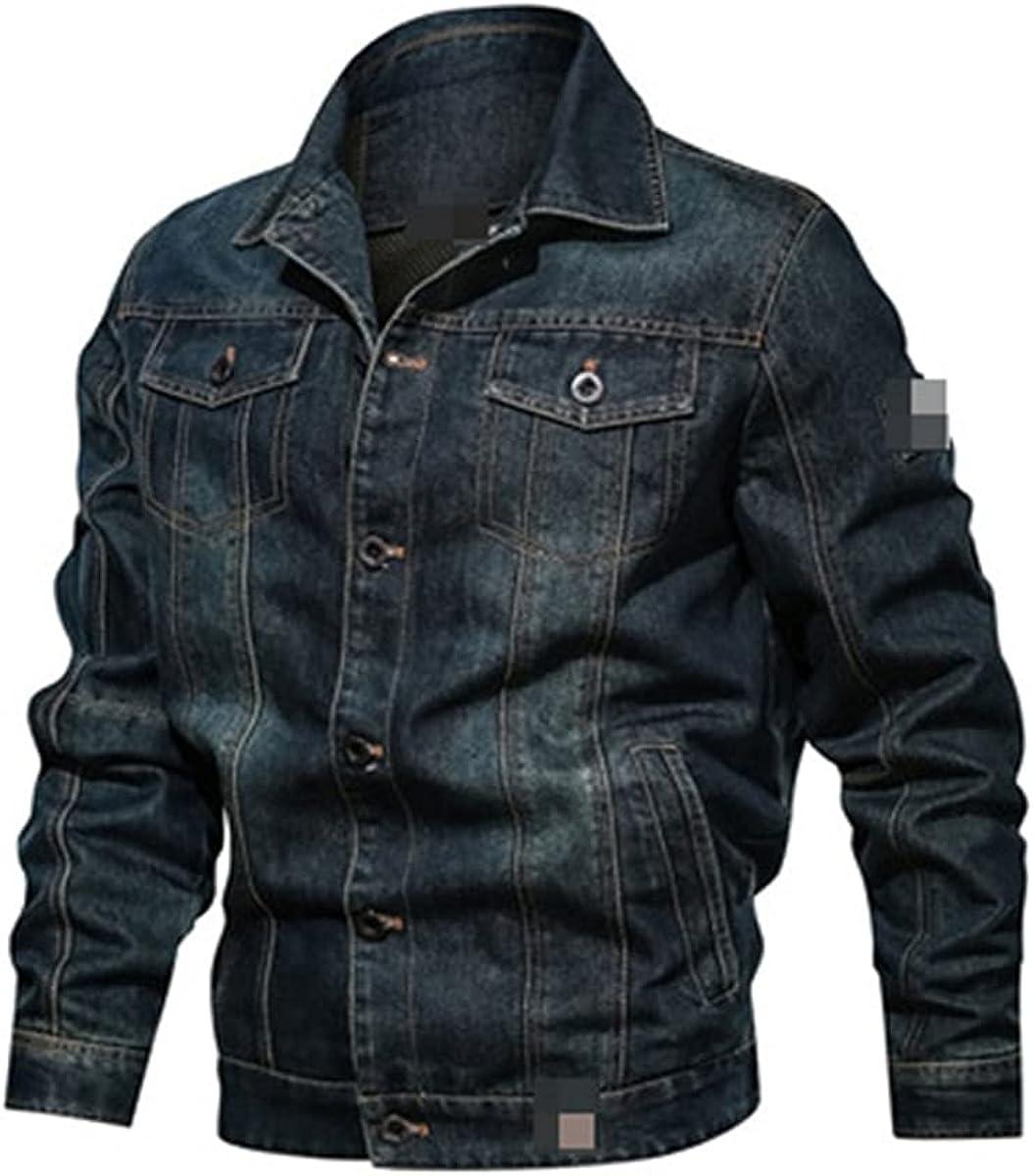 Spring Men's Denim Jacket Fashion Ripped Pilot Windbreaker Denim Jacket