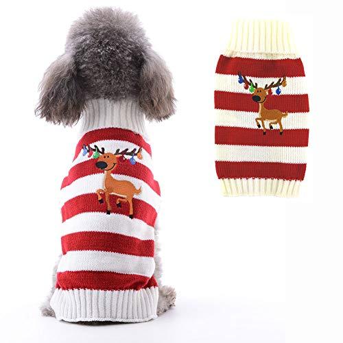 Petcare - Jersey para perro de Navidad con cuello de rollo, diseño navideño