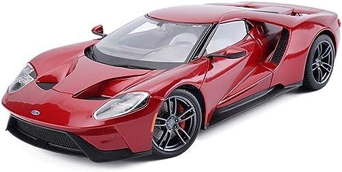 KKD Scale-Modellfahrzeuge 1 18 Ford GT Hardcover Version Diecast Alloy Car Modell ziehen Spielzeugautos Geburtstag Geschenk Sammlung zurück Mini Fahrzeuge