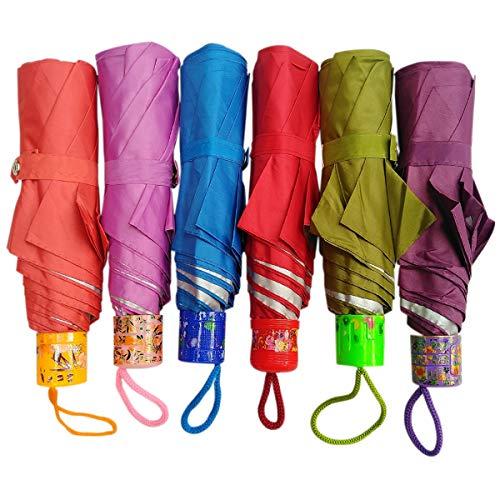 Rainpopson™ 3 Fold Color Umbrella for Women Stylish & Men 3 Fold Big Size Umbrella (Multicolour) - Pack of 1 (Made in India)