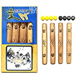LENITH YUTNORI Korean Board Games 윷놀이 Floor Games for Family, Adults, Party, Strategy Wood Stick Games (Normal)