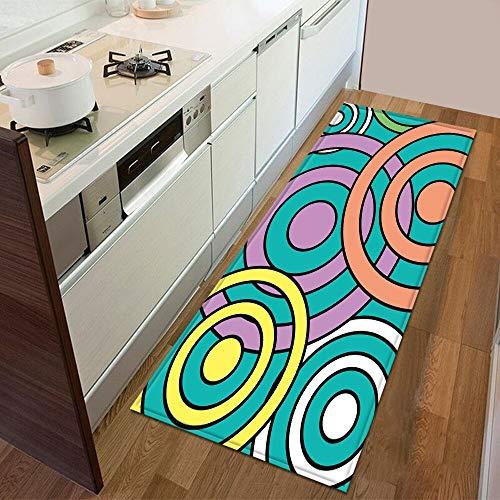 HLXX Alfombra de piso para cocina, dormitorio, entrada, alfombra para el hogar, decoración para el suelo, sala de estar, baño, alfombra antideslizante, A11, 60 x 90 cm