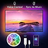NiteBird Smart TV Backlight Work with Alexa Google Home,Sync to Music WiFi LED TV Light 9.2Ft K…