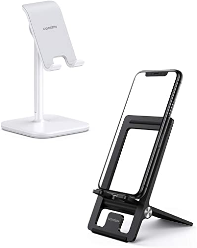 new arrival UGREEN Cell Phone Stand Desk Holder Bundle Adjustable Compatible with iPhone 11 Pro Max SE XS X XR 8 7 6 Plus online sale 6S, Samsung online Galaxy S20 Ultra S10 S9 S8 Note 10 9 8, LG G8 ThinQ, Android Phone sale