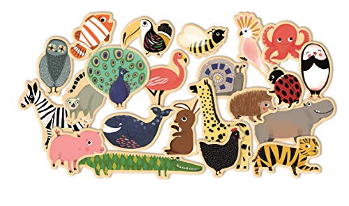 Djeco – Magnetspiel Magnimo aus Holz mit Tieren