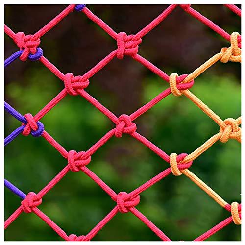 Stasy Duradero para Niños Protección Seguridad Red Nylon Cerca Tejido Red De Cuerda para Barandas Escaleras Balcón Casa De árbol Playground Red De Protección(Size:2x4M(7X13FT))