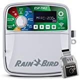 Rain-Bird ESP-TM2 Indoor Outdoor Irrigation WiFi Zone Controller Timer Box and Link Lnk WiFi Mobile Wireless Smartphone Upgrade Module Sprinkler System (4 Zone)