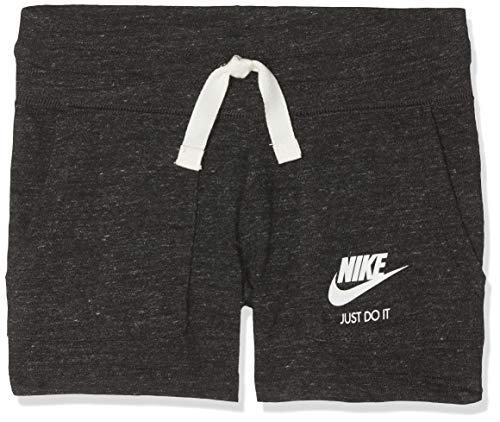 Nike Nike Mädchen Vintage Shorts, Schwarz (Black/Sail), S