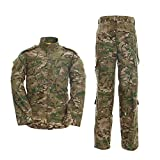 Minghe Military Tactical Men's Combat Uniform Set Shirt and Pants Sets Cp Camo Uniforms for Army Airsoft Paintball Hunting, Medium