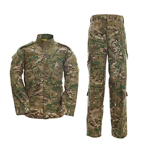 Minghe Men's Combat Uniform Military Tactical Shirt and Pants Set